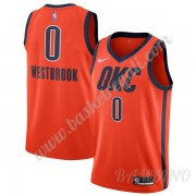 Canotte Basket Bambino Oklahoma City Thunder 2019-20 Russell Westbrook 0# Arancia Earned Edition Swi..